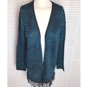 Beautiful Tanjay Turquoise Cardigan.